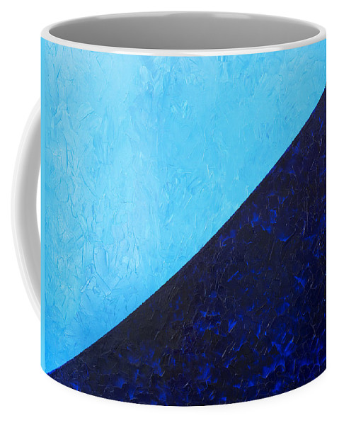 Impasto Coffee Mug featuring the painting Water's Edge by JoAnn DePolo