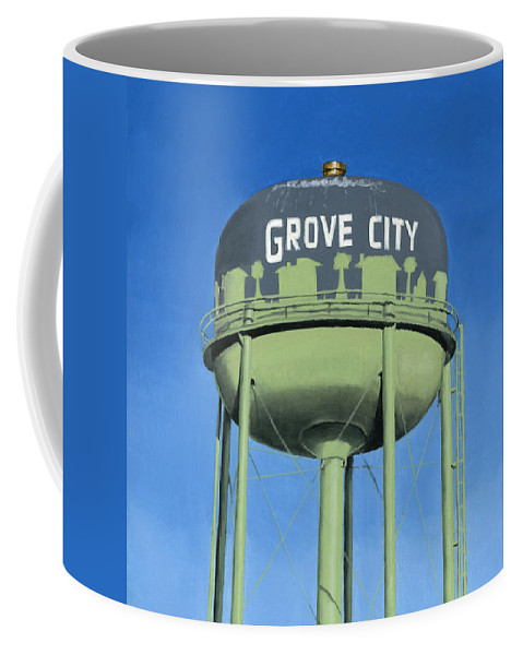 Old Coffee Mug featuring the painting Watertower Grove City by Rob De Vries