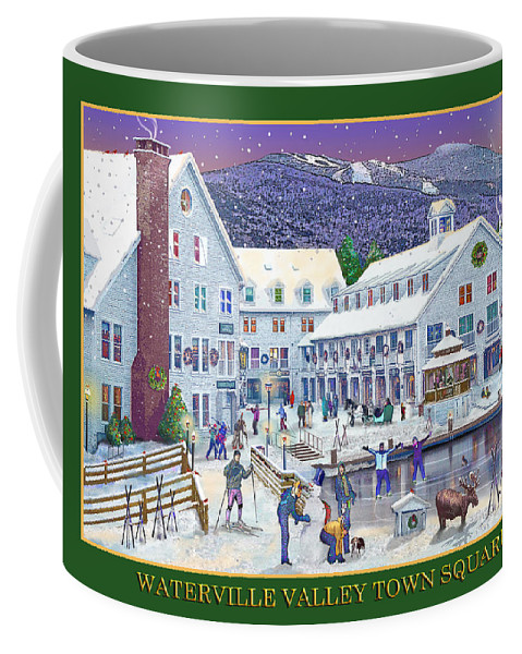 Waterville Valley New Hampshire Coffee Mug featuring the photograph Waterville Valley At Wintertime by Nancy Griswold