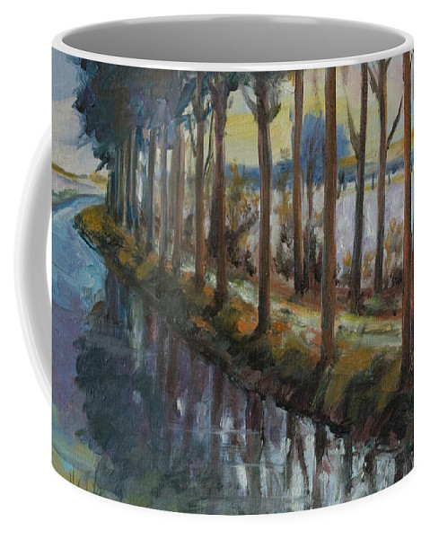 Trees Coffee Mug featuring the painting Waterway by Rick Nederlof