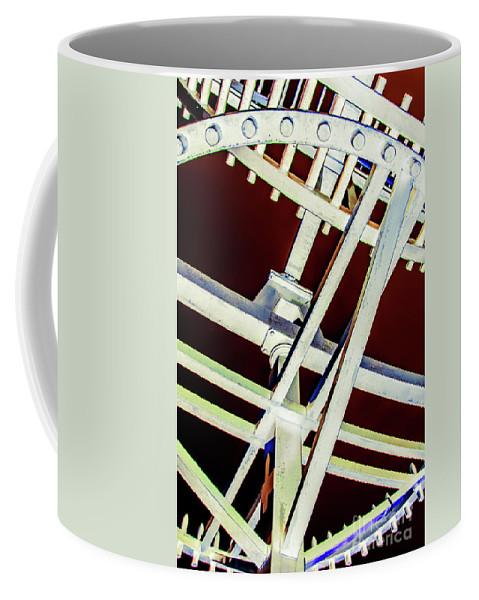 Aged Coffee Mug featuring the photograph Waterwheel #2 by Adriana Zoon