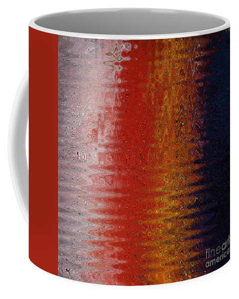 Twirl Coffee Mug featuring the painting Wave Twirl by Gull G