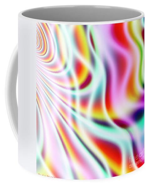 Art Coffee Mug featuring the digital art Wavelengths by Candice Danielle Hughes