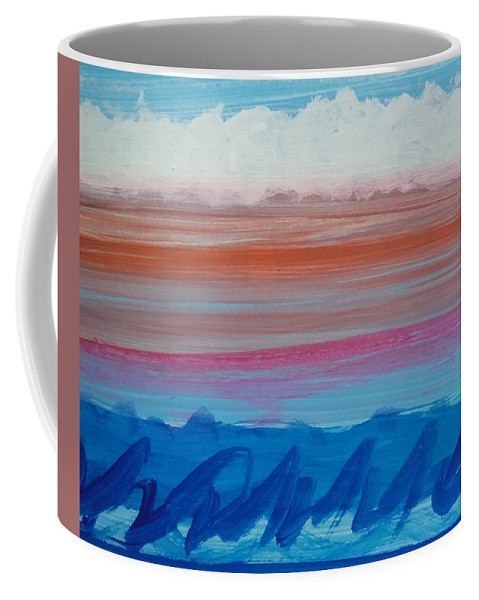 Waves Ocean Sea Seascape Surf Coffee Mug featuring the painting Waves by Kathleen Dunn
