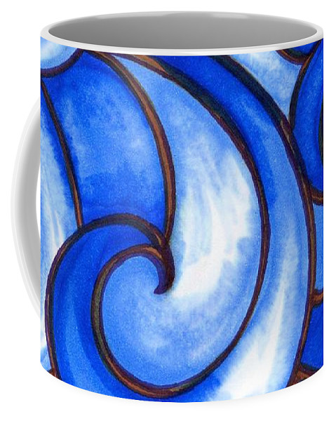 Water Coffee Mug featuring the painting Waves of Mercy by Vonda Drees
