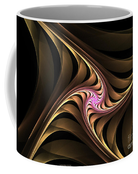 Fractal Coffee Mug featuring the digital art Waves With Pink by Deborah Benoit