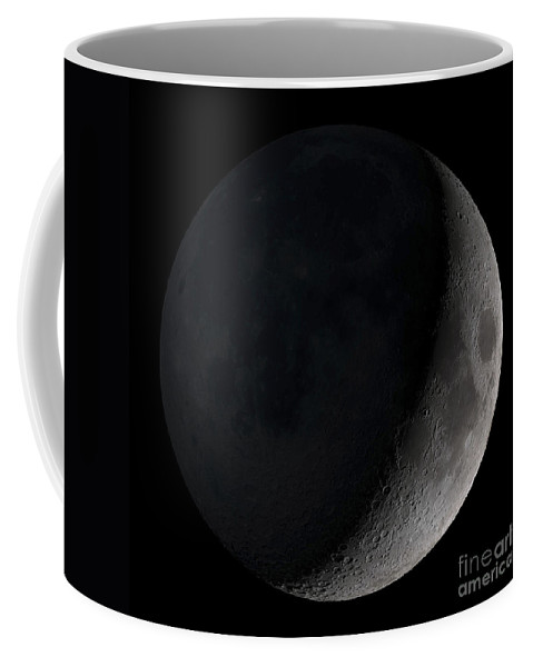 Phase Of The Moon Coffee Mug featuring the photograph Waxing Crescent Moon by Stocktrek Images