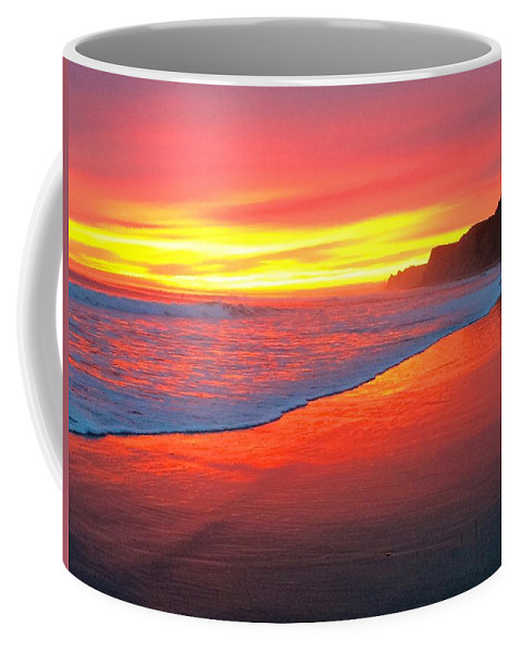 Sunset Coffee Mug featuring the photograph Way Out West by JoJo Brown