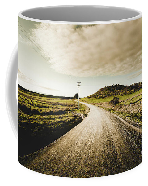 Road Coffee Mug featuring the photograph Way Out Yonder by Jorgo Photography - Wall Art Gallery