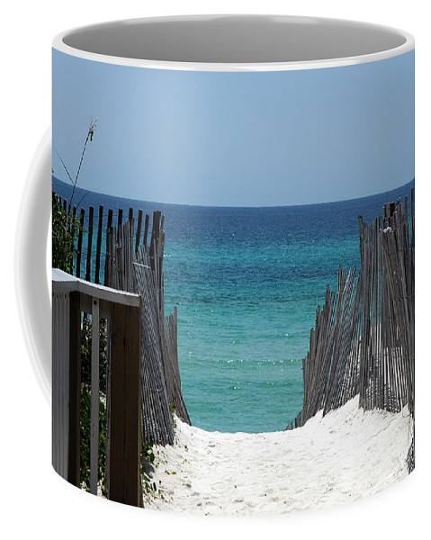 Photography Coffee Mug featuring the photograph Way To The Beach by Susanne Van Hulst