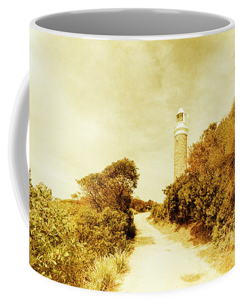 Faded Coffee Mug featuring the photograph Wayback Beacon by Jorgo Photography - Wall Art Gallery
