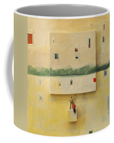 Landscape Coffee Mug featuring the painting Wayside by Tim Nyberg