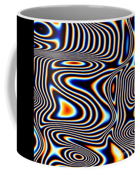 Art Coffee Mug featuring the digital art Wayward Stripes by Candice Danielle Hughes