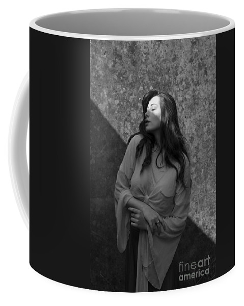 Woman Coffee Mug featuring the photograph We Are All Made Of Light And Shadows by Clayton Bastiani