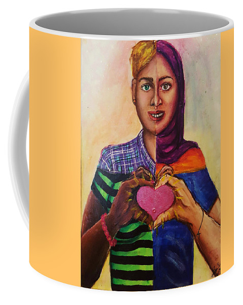 Painting Coffee Mug featuring the painting We Are All The Same by Hunter Davis