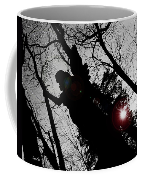 Angel Coffee Mug featuring the photograph We Are Everywhere by Betsy Knapp