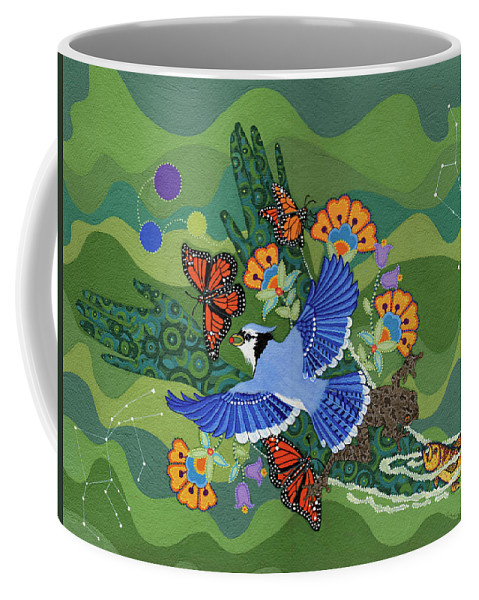 Water Coffee Mug featuring the painting We Are One by Chholing Taha