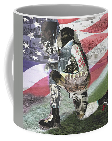 Kneel Coffee Mug featuring the digital art We Kneel Art by Jorge Delara