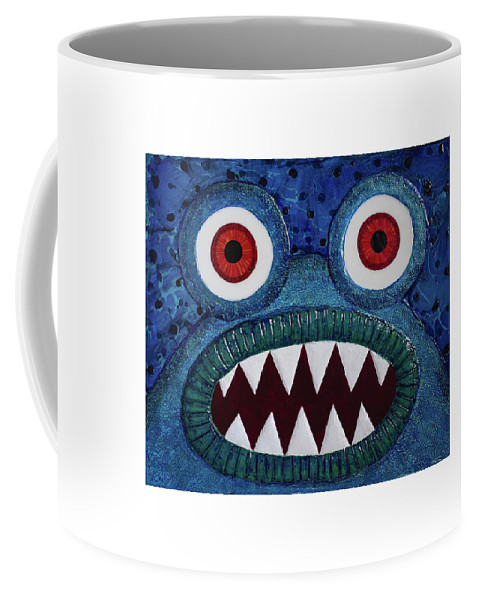 Monster Coffee Mug featuring the painting We Need Monsters #5 by Kendra Sartorelli