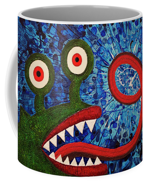 Monster Coffee Mug featuring the painting We Need Monsters #7 by Kendra Sartorelli