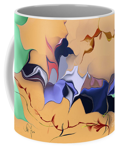 We Coffee Mug featuring the digital art We Spent A Little Time Together by Leo Symon