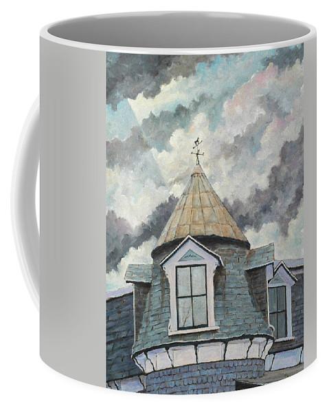 Urban Scene Coffee Mug featuring the painting Weather Vane by Richard T Pranke