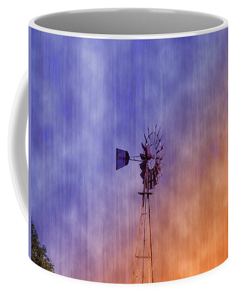 Weather Vane Coffee Mug featuring the photograph Weather Vane Sunset by Bill Cannon