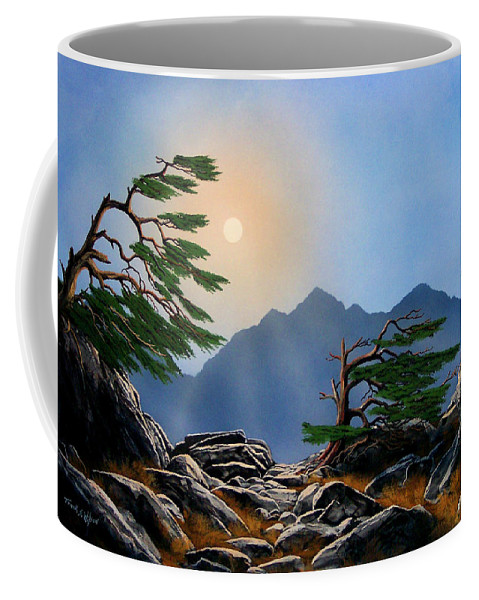 Weathered Warriors Coffee Mug featuring the painting Weathered Warriors by Frank Wilson