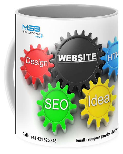 Web Design Adelaide Coffee Mug featuring the digital art Web Design And Development Company In Adelaide by Msb Solution