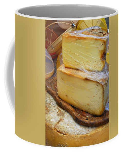 Provence Coffee Mug featuring the photograph Wedges Of Ripe Cheese Wrapped by Anne Keiser
