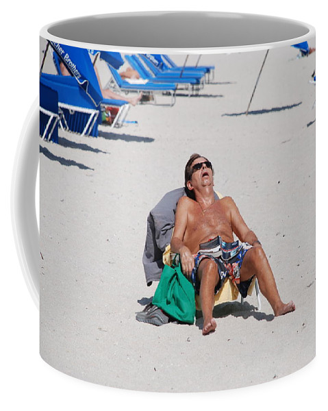 Beach Coffee Mug featuring the photograph Weekend At Bernies by Rob Hans