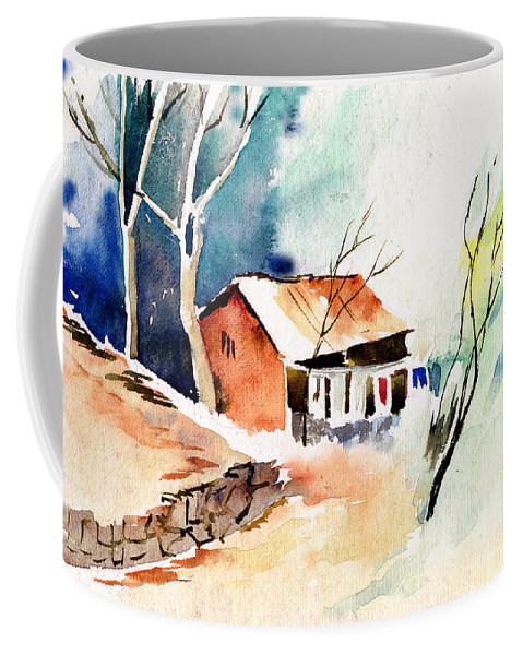 Nature Coffee Mug featuring the painting Weekend House by Anil Nene