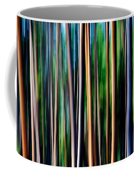 Motion Blur Coffee Mug featuring the photograph Weeping Yellowstone Trees by Todd Klassy