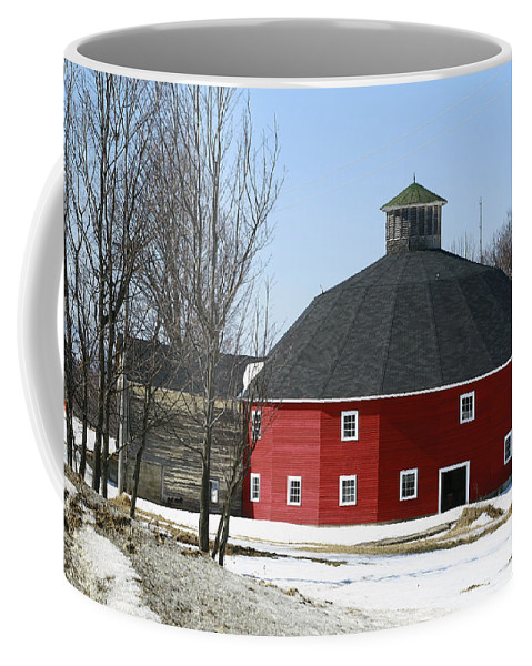 Barn Coffee Mug featuring the photograph Welch Round Barn by Deborah Benoit