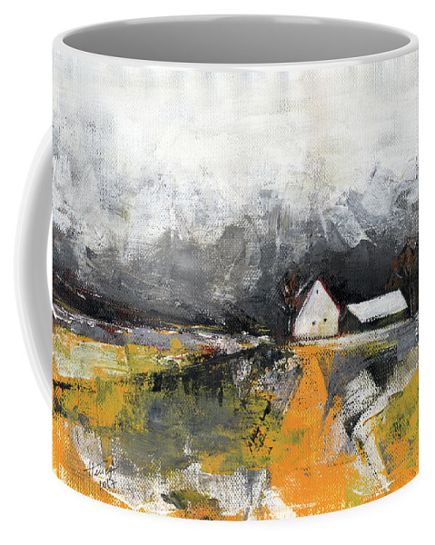 Landscape Coffee Mug featuring the painting Welcome Home by Aniko Hencz