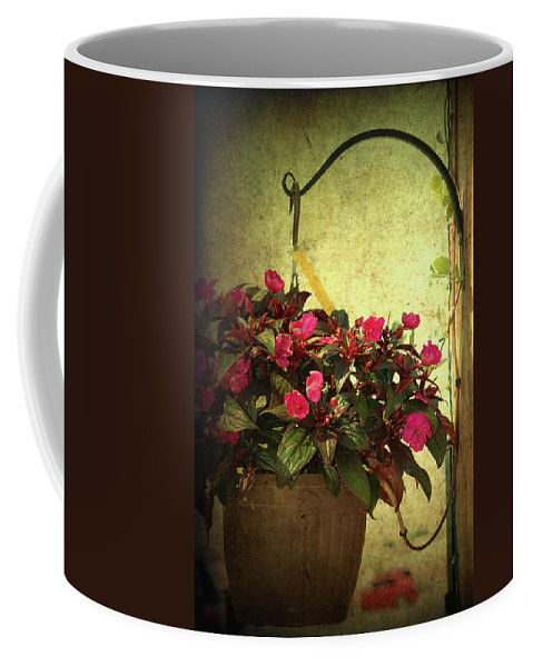 Flower Pot Coffee Mug featuring the photograph Welcome Home by Susanne Van Hulst