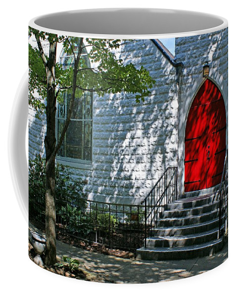 Church Coffee Mug featuring the photograph Welcome by Sandy Keeton