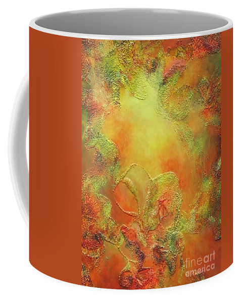 Abstract Coffee Mug featuring the painting Welcome To Heaven by Claire Gagnon