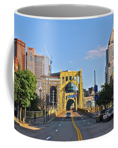 Pittsburgh Coffee Mug featuring the photograph Welcome To Pittsburgh Pa by Frozen in Time Fine Art Photography