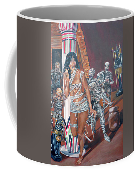 Egypt Coffee Mug featuring the painting Well Preserved by Bryan Bustard