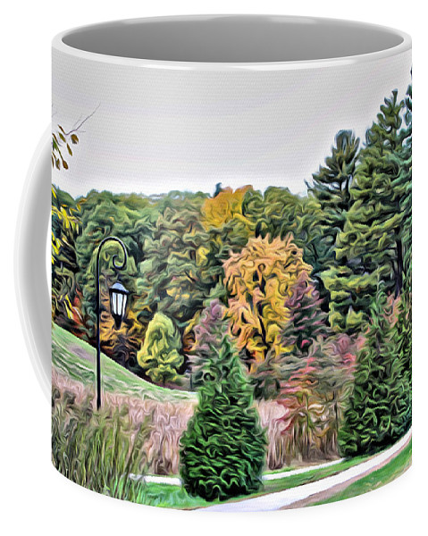 Coffee Mug featuring the photograph Wellesley College Campus by Modern Art