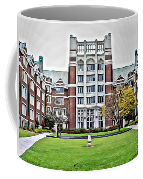 Coffee Mug featuring the photograph Wellesley College Tower Court by Modern Art