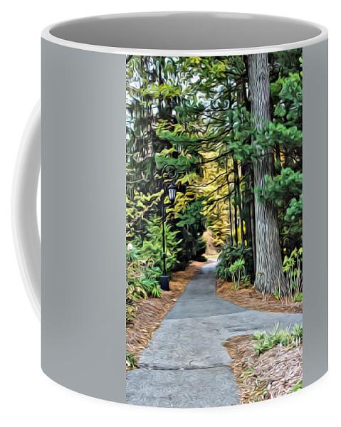 Wellesley College Coffee Mug featuring the photograph Wellesley College Walkway by Modern Art