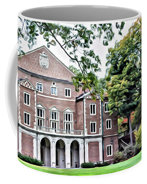 Coffee Mug featuring the photograph Wellesley College Walsh Alumni Hall by Modern Art