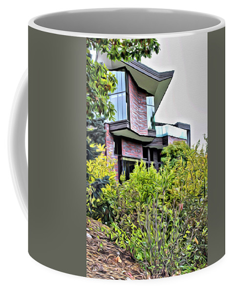 Wellesley College Coffee Mug featuring the photograph Wellesley College Wang Campus Center by Modern Art