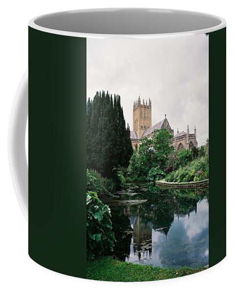 Wells Coffee Mug featuring the photograph Wells Cathedral by Lauri Novak