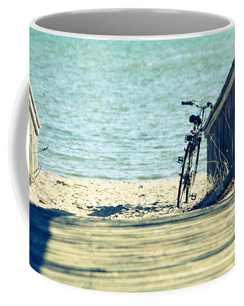 Went For A Swim Coffee Mug featuring the photograph Went For A Swim by Karol Livote