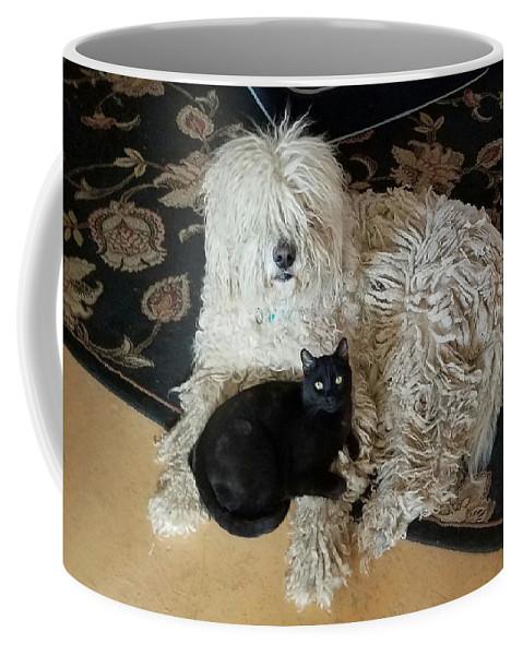 Komondore Coffee Mug featuring the digital art We're Ready by Jaymus Perry