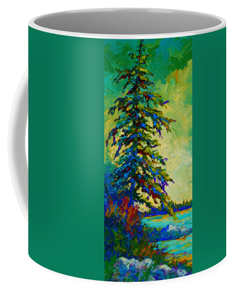 West Coastal Coffee Mug featuring the painting West Coast Sentinel by Marion Rose