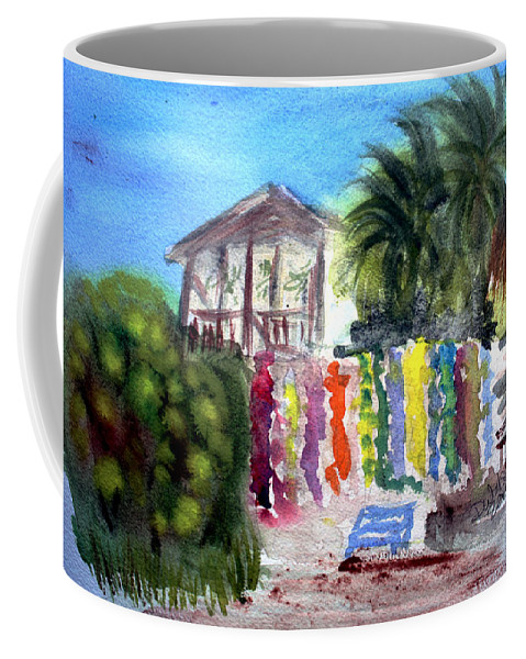 West End Coffee Mug featuring the painting West End Market by Donna Walsh